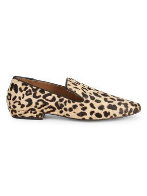 Havi Leopard Print Calf Hair & Leather Loafers by Steven By Steve Madden