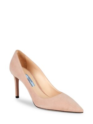 Suded High Heel Pumps by Prada
