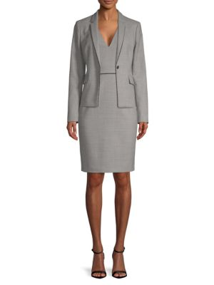Doritala Textured Sheath Dress by Hugo Boss