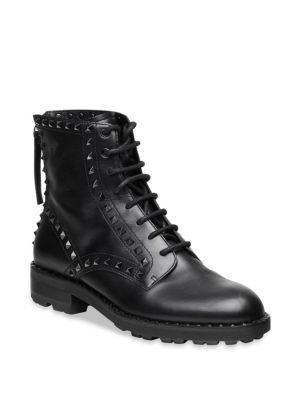 Wolf Studded Leather Combat Boots by Ash
