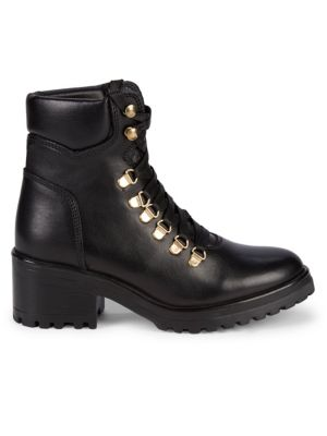 Grenada Lace Up Leather Hiker Boots by Steven By Steve Madden
