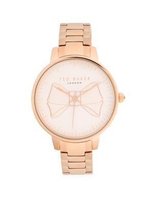 Brook Bow Stainless Steel Strap Watch by Ted Baker London