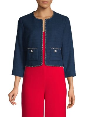 Cropped Tweed Jacket by Karl Lagerfeld Paris