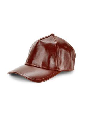 Marilyn Leather Baseball Cap by Rag & Bone