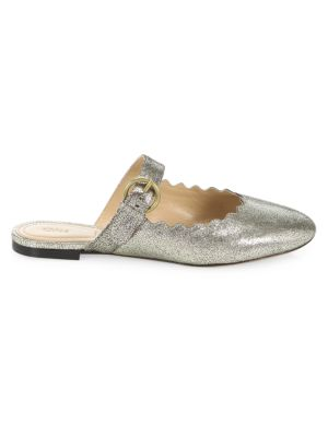 Lauren Metallic Leather Mules by Chloé