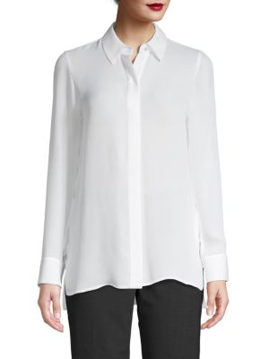 Silk Button Placket Shirt by Vince