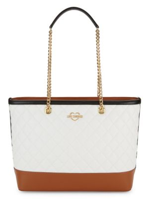Quilted Faux Leather Shoulder Bag by Love Moschino
