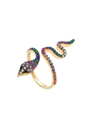 Cubic Ziconia Adjustable Serpentine Ring by Gabi Rielle