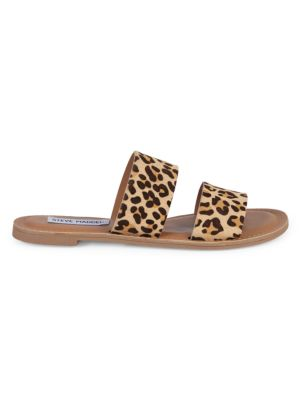 Lola Leopard Print Calf Hair Slides by Steve Madden