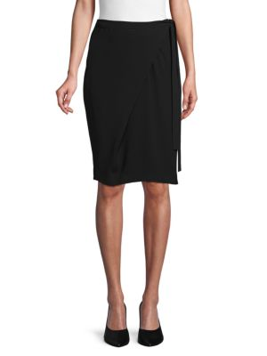 Alisso Wrap Pencil Skirt by Max Mara Studio