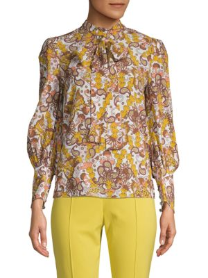 Paisley Balloon Sleeve Blouse by Chloé