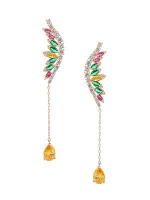 Luxe Multicolored Crystal Drop Earrings by Eye Candy La