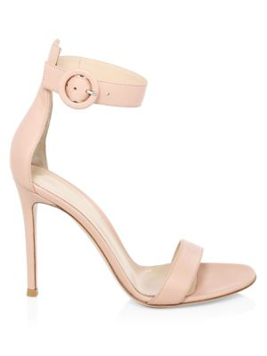 Dahlia Stiletto Leather Sandals by Gianvito Rossi