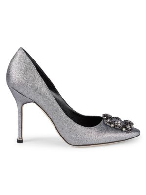 Decollette Glitter Pumps by Manolo Blahnik