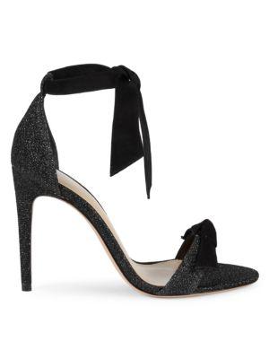 Stellar Ankle Tie Glitter Leather Sandals by Alexandre Birman