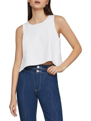 Split Back Cropped Tank Top by Bcbgmaxazria
