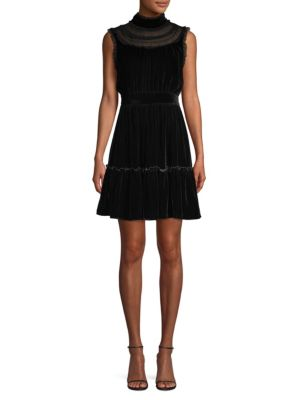 Wild Ones Velvet Lace Trim Dress by Kate Spade New York