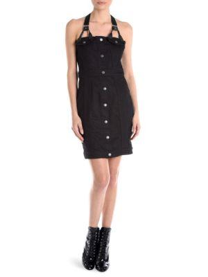 Denim Harness Mini Dress by Cédric Charlier