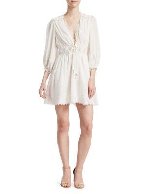 Iris Corset Waist Mini Dress by Zimmermann