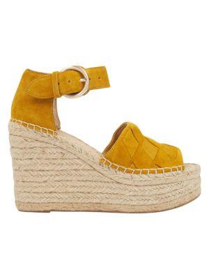 Adalla Basketweave Suede Platform Wedge Sandals by Marc Fisher Ltd