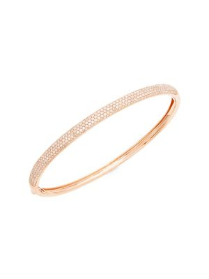 14 K Rose Gold Diamond Bangle by Effy