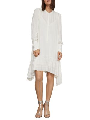 Asymmetrical Button Up Midi Dress by Bcbgmaxazria