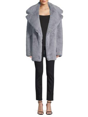 32675ac43d8e Shoptagr | Riley Faux Fur Coat by Milly