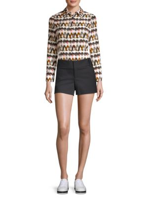 Alice + Olivia X Donald Willa Button Front Shirt by Alice + Olivia