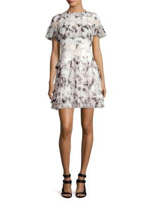 Paola Ruffle Mini Dress by Alice + Olivia