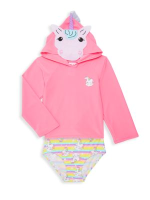 Little Girl's 2 Piece Unicorn Swim Set by Sol Swim