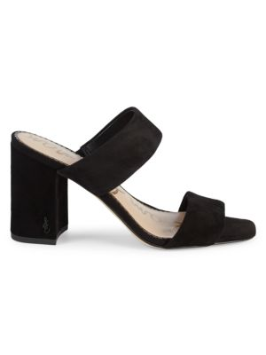 Delaney Suede Heeled Sandals by Sam Edelman