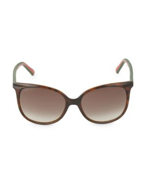 56 Mm Round Sunglasses by Gucci
