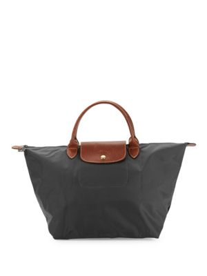 Top Zip Leather Trimmed Tote by Longchamp