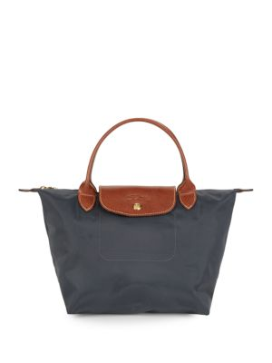 Leather Trimmed Foldable Tote by Longchamp