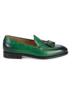 Mario Double Tassel Leather Loafers by Salvatore Ferragamo