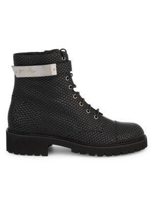 Leather Combat Boots by Giuseppe Zanotti