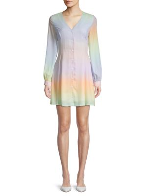 Rainbow Tie Dye Mini Dress by Lea & Viola