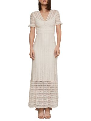 Floral Striped Lace Maxi Dress by Bcbgmaxazria