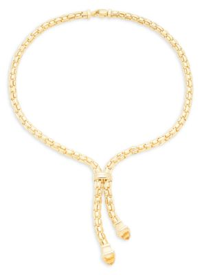 14 K Yellow Gold Pendant Necklace by Saks Fifth Avenue Made In Italy