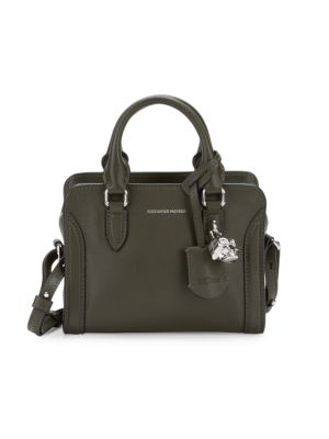 Mini Padlock Leather Crossbody Bag by Alexander Mc Queen