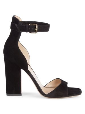 Stack Heel Suede Sandals by Valentino Garavani