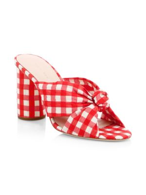 Coco Gingham Knot Mules by Loeffler Randall