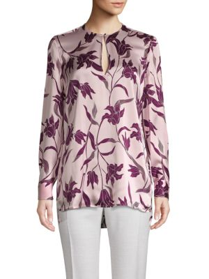 Delainey Floral Silk Blouse by Equipment
