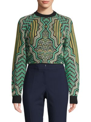patterned-crop-sweater by m-missoni