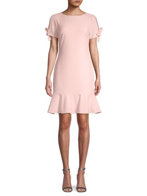 Ruffled Tie Sleeve Sheath Dress by Dkny
