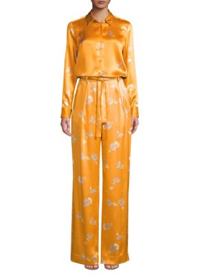 Evonne Silk Print Wide Leg Trousers by Equipment