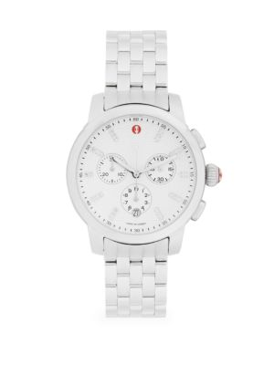 Stainless Steel & Diamond Chronograph Bracelet Watch by Michele