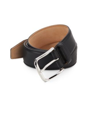 Leather Belt by Saks Fifth Avenue Made In Italy
