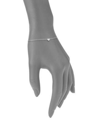 Diamond & 14 K White Gold Charmed Bracelet by Kc Designs