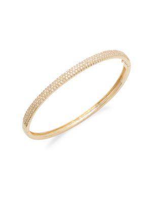 Diamond & 14 K Yellow Gold Bangle Bracelet by Effy